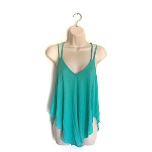 We The Free Green Double Strap Cami